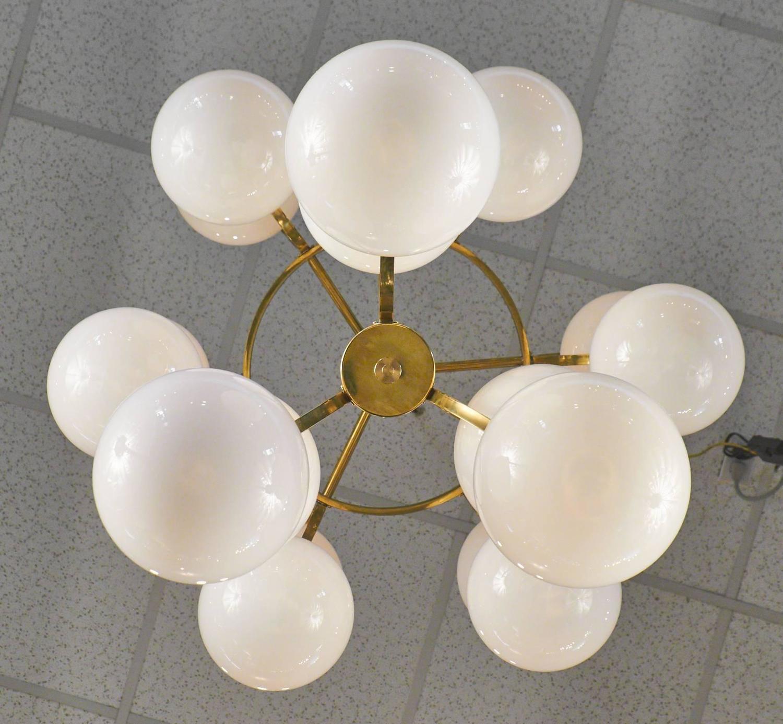 Mid Century Modern Murano Glass Globe Chandelier For Sale At 1stdibs