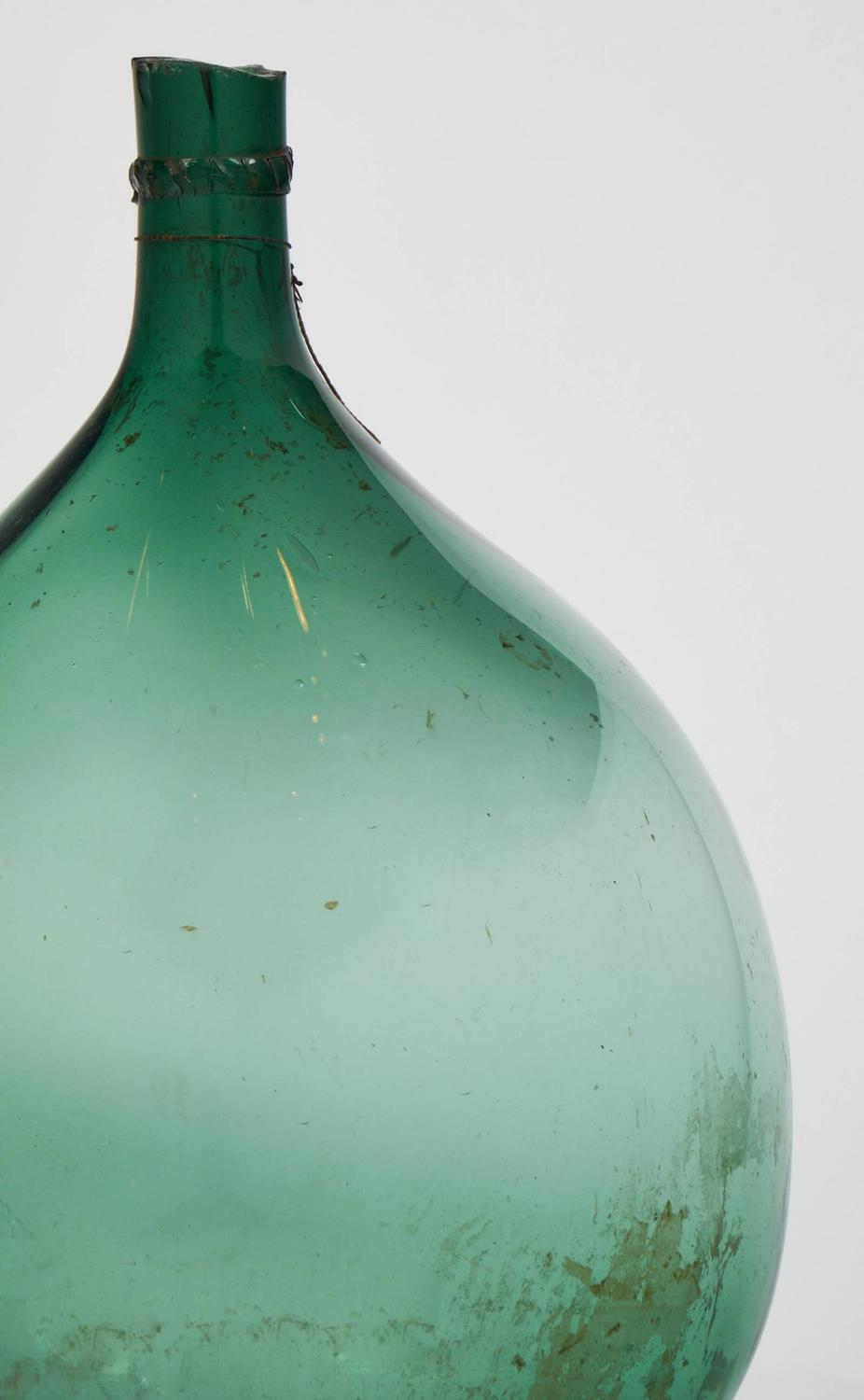 Antique French Wine Green Glass Bottle For Sale At 1stdibs