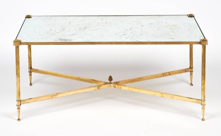 Art Deco Maison Bagues Brass Coffee Table at 1stdibs