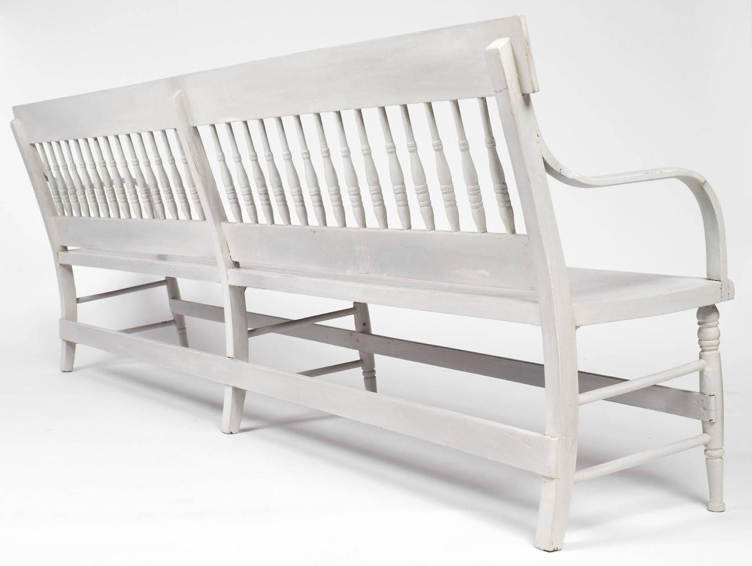 American Federal Antique Long Wooden Bench For Sale At 1stdibs