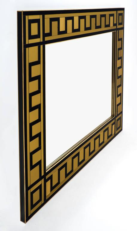 Murano Glass And Brass Mirror At 1stdibs