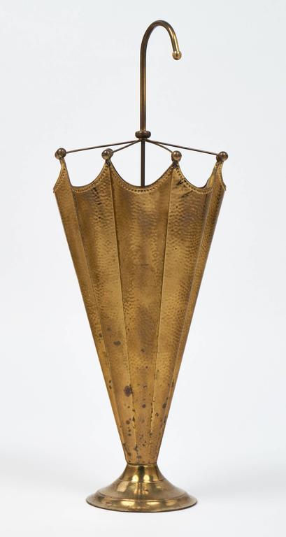 vintage french brass umbrella stand at 1stdibs Copper Umbrella Holder