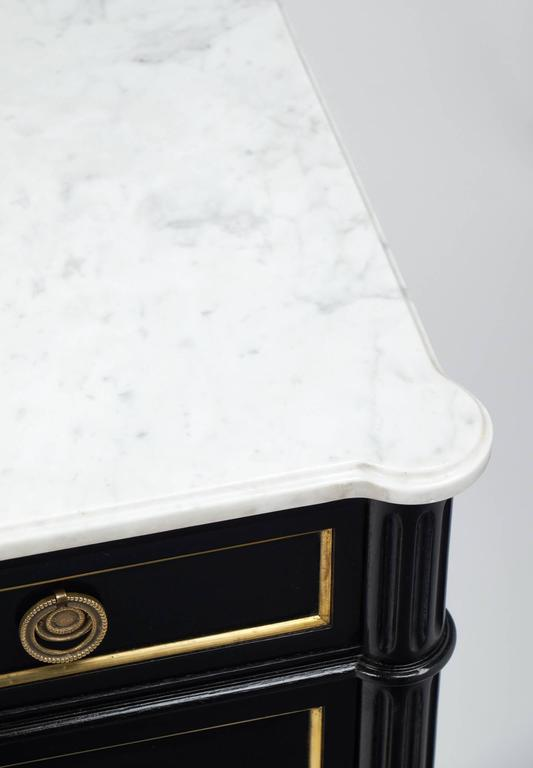 Carrara Marble-Top French Louis XVI Style Chest of Drawers 8