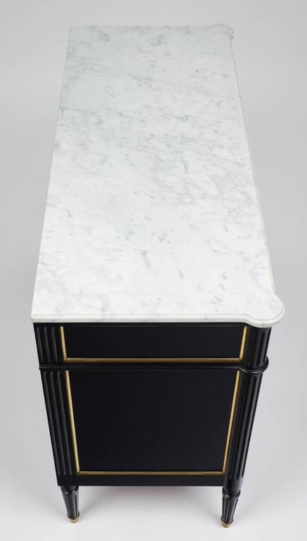 Carrara Marble-Top French Louis XVI Style Chest of Drawers 7