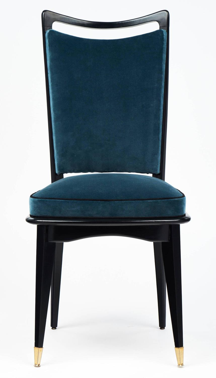 set of six french mid century modern dining room chairs for sale at