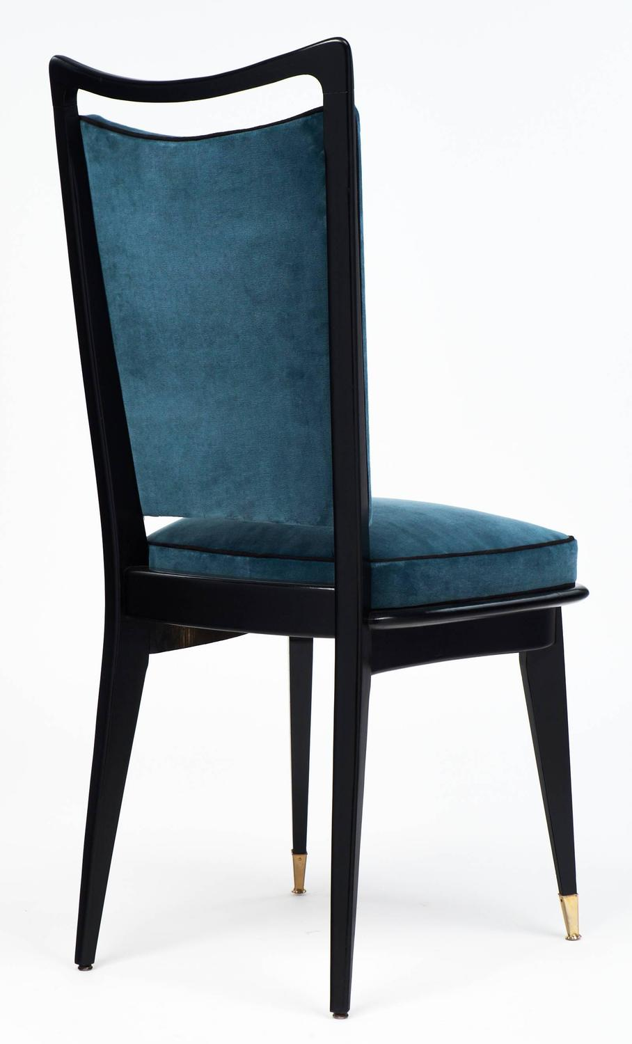 Set Of Six French Mid Century Modern Dining Room Chairs