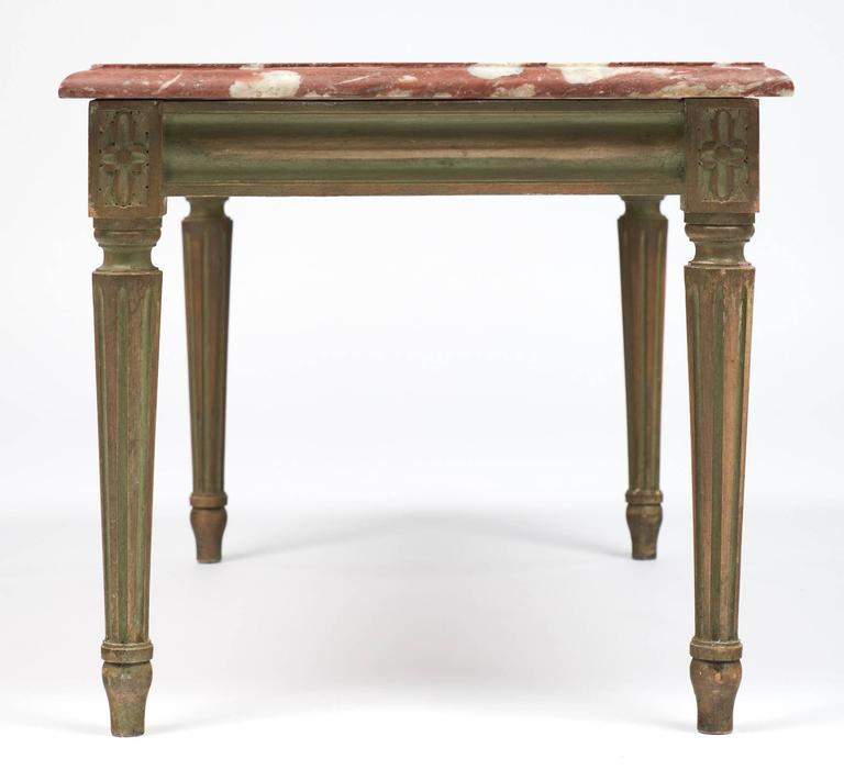 """Louis Xvi Marble Coffee Table: Louis XVI Style Coffee Table With """"Rouge Royal"""" Marble-Top"""