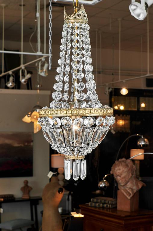 Super 1910 French Empire Style Crystal Chandelier For Sale at 1stdibs NB63