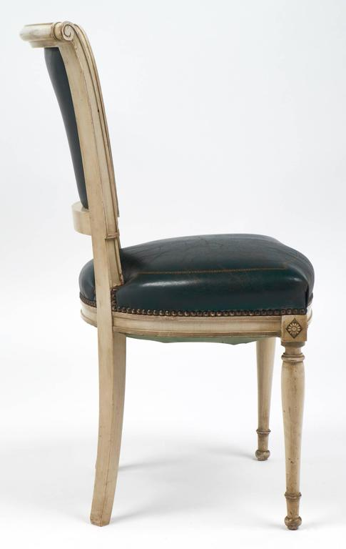 Set of Four French Directoire Style Side Chairs For Sale 3