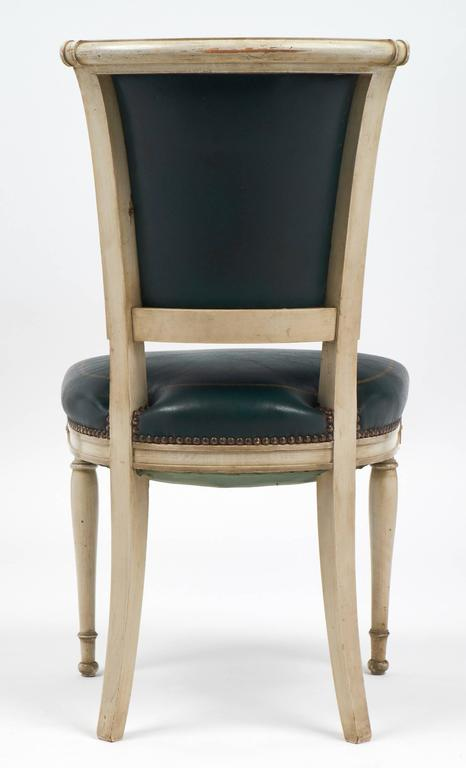 Set of Four French Directoire Style Side Chairs For Sale 4