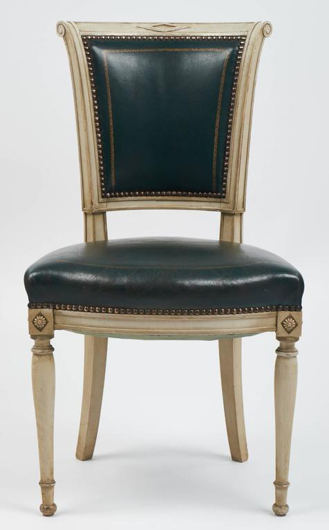 Early 20th Century Set of Four French Directoire Style Side Chairs For Sale