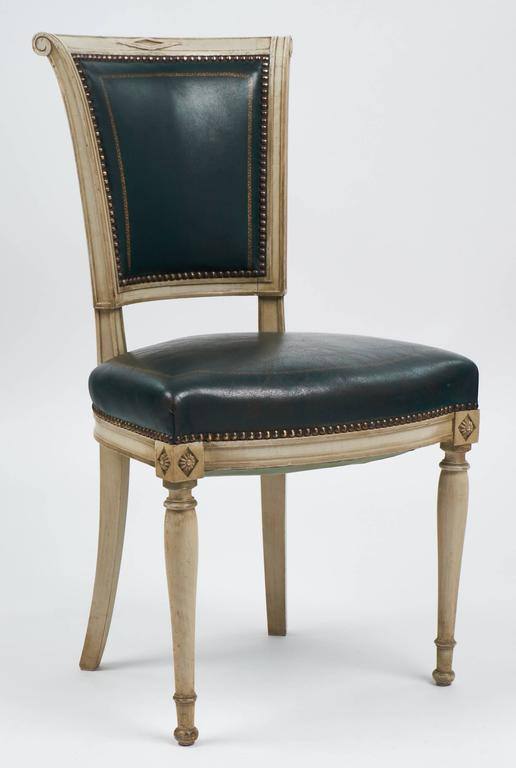Set of Four French Directoire Style Side Chairs In Good Condition For Sale In Austin, TX