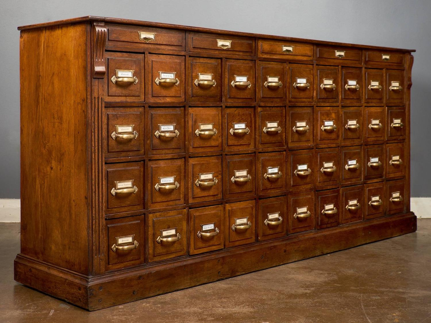 Antique French Apothecary Cabinet Circa 1870 For Sale At 1stdibs