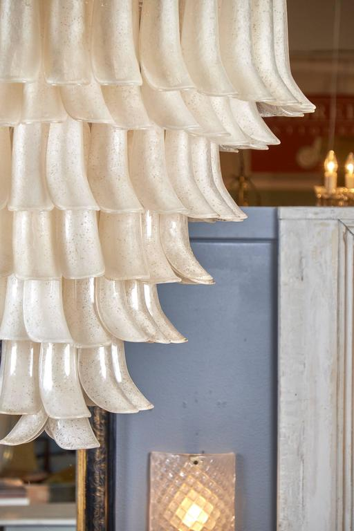 """Murano """"Scavo"""" Glass Selle Chandelier For Sale 1"""