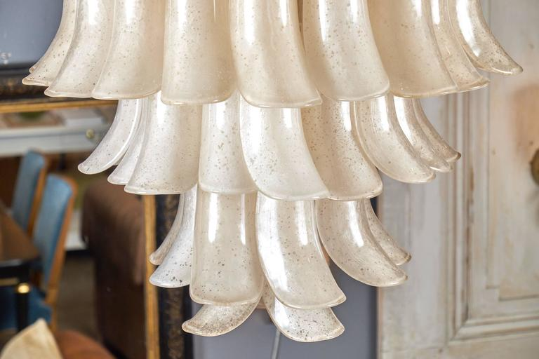 """Murano """"Scavo"""" Glass Selle Chandelier For Sale 2"""
