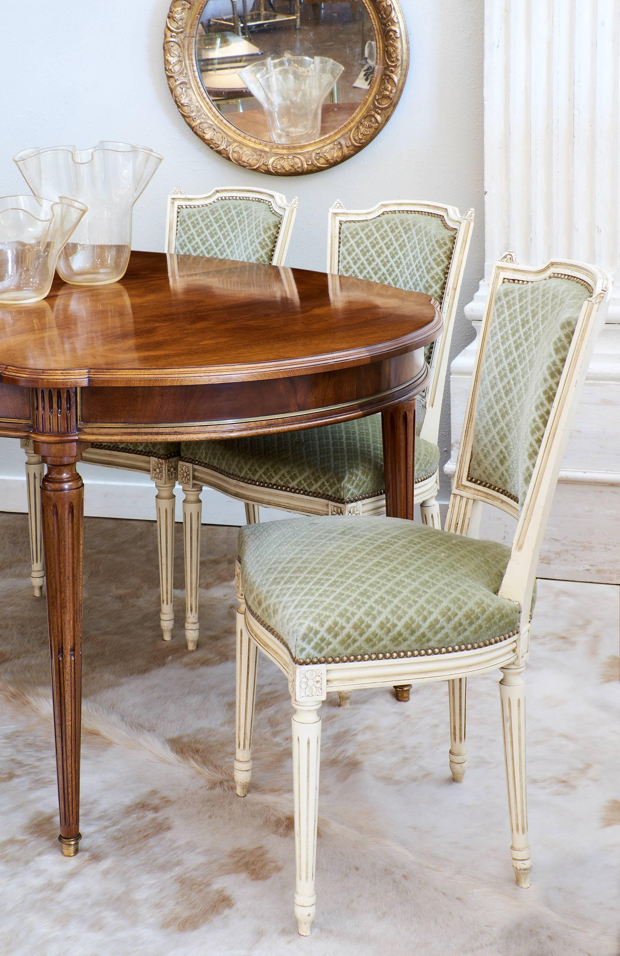 green dining room chairs. Set Of Antique French Louis XVI Style Sage Green Dining Chairs For Sale At 1stdibs Room I