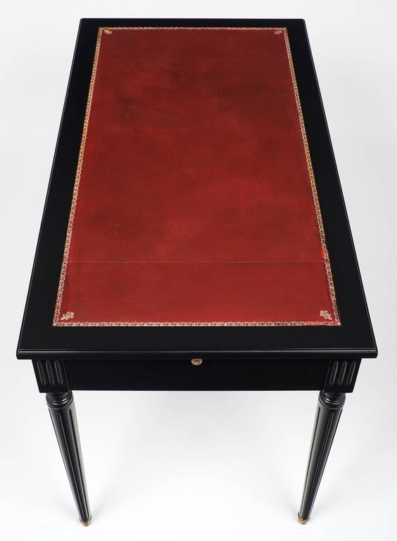Louis XVI Style Vintage French Desk with Crimson Writing Surface 7