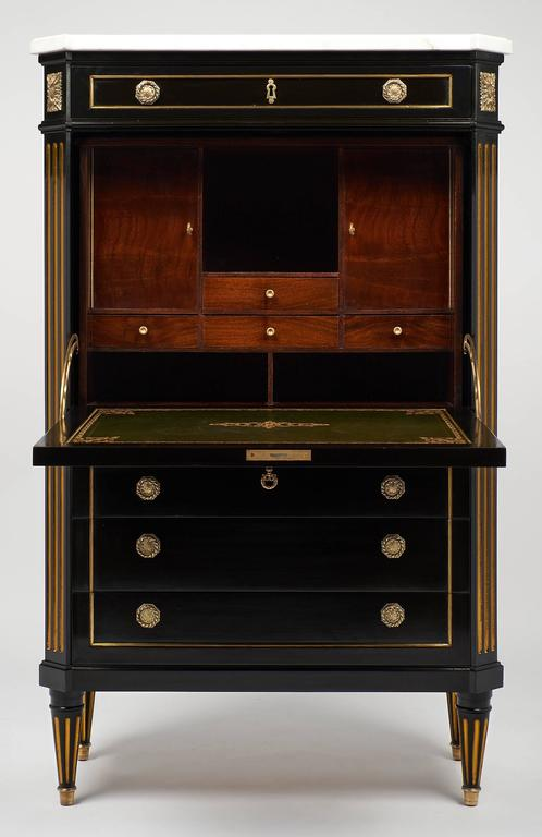 Louis XVI Style French Secretaire in the Style of Riesener 4