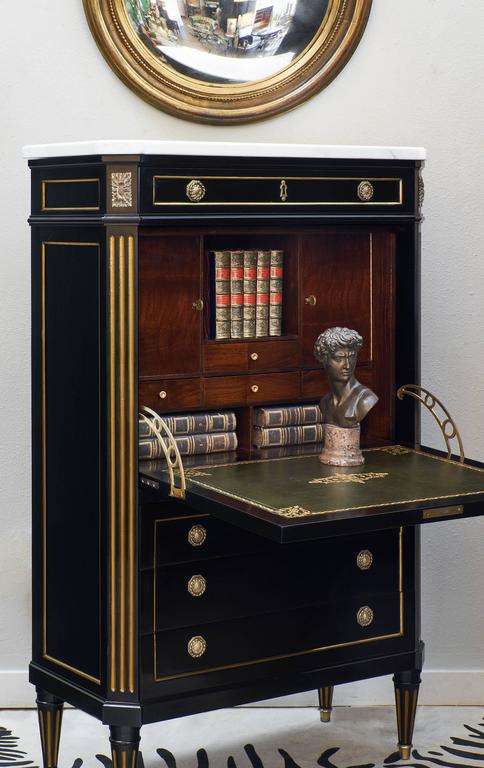 Louis XVI Style French Secretaire in the Style of Riesener 2
