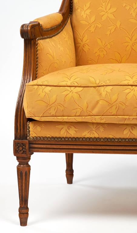 Louis XVI Style Vintage Bergères For Sale 3
