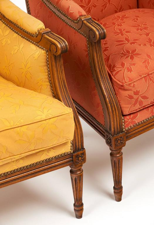 Louis XVI Style Vintage Bergères For Sale 1