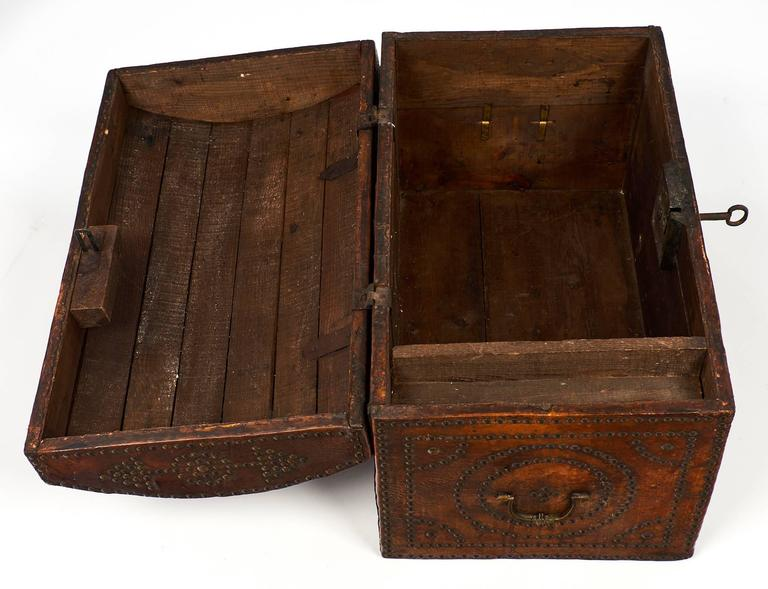 Napoleon III Period 19th Century French Leather Box For Sale 2