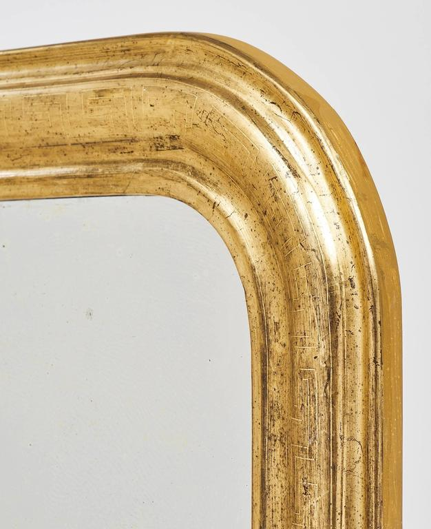 Gold Leaf 19th Century French Louis Philippe Mirrors