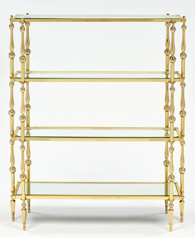 maison raphael mid century modern french brass etagere at 1stdibs. Black Bedroom Furniture Sets. Home Design Ideas