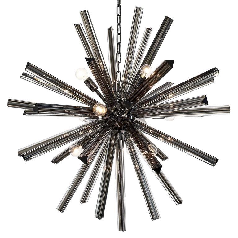 Murano Glass Black Sputnik Chandelier