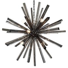 Murano Glass Black Sputnik Chandelier