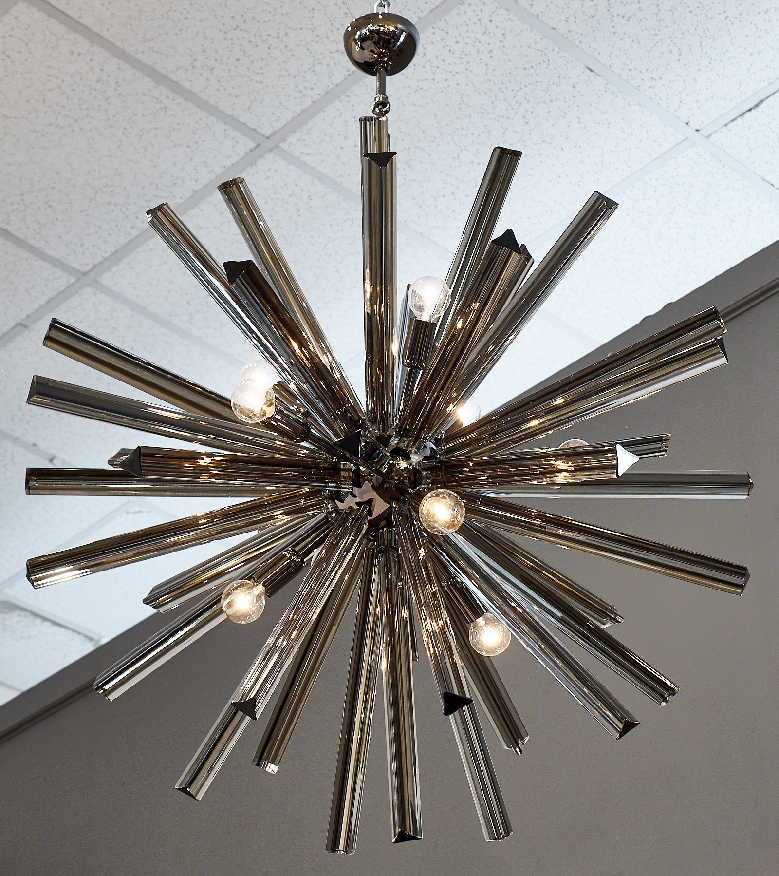 Murano glass black sputnik chandelier for sale at 1stdibs arubaitofo Choice Image