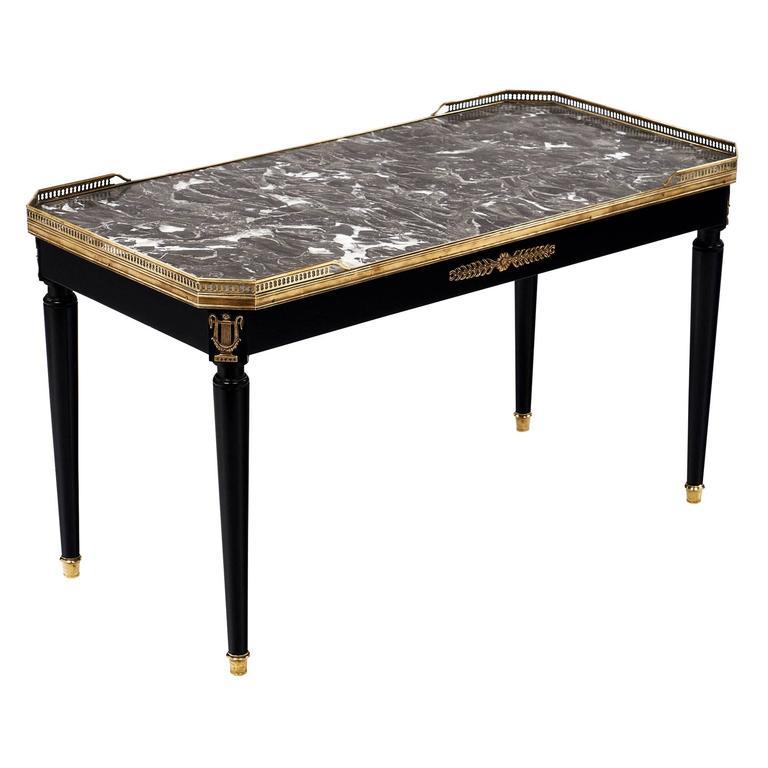 Louis Xvi Marble Coffee Table: Sainte Anne Marble Topped Louis XVI Style Coffee Table At