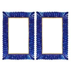 Murano Glass Cobalt Blue Mirror