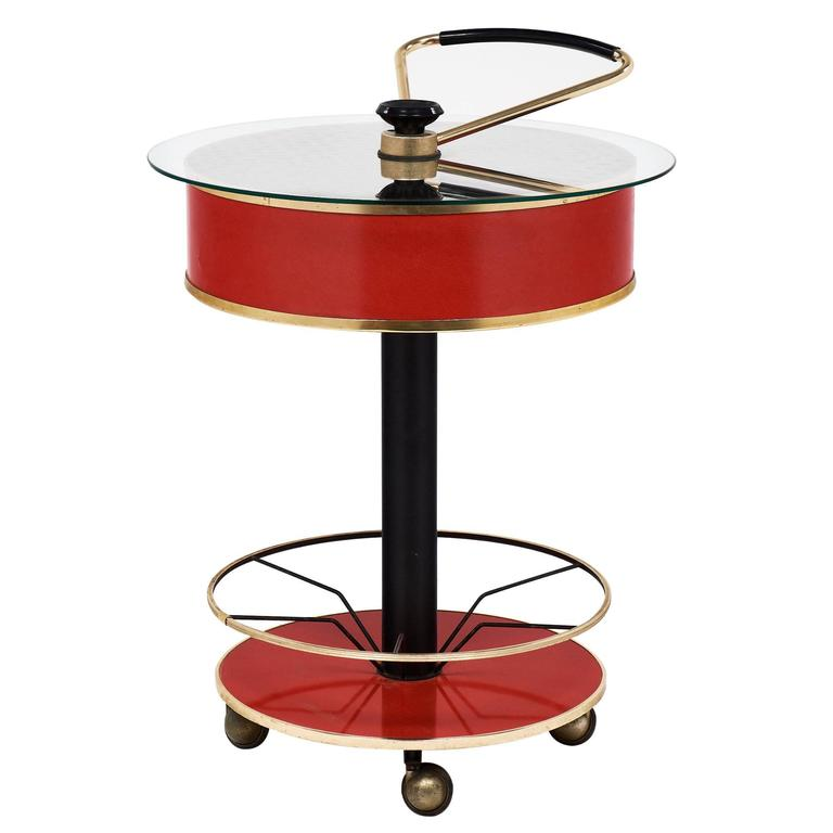 Modernist Italian Bar Cart For Sale