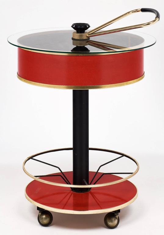Mid-Century Modern Modernist Italian Bar Cart For Sale