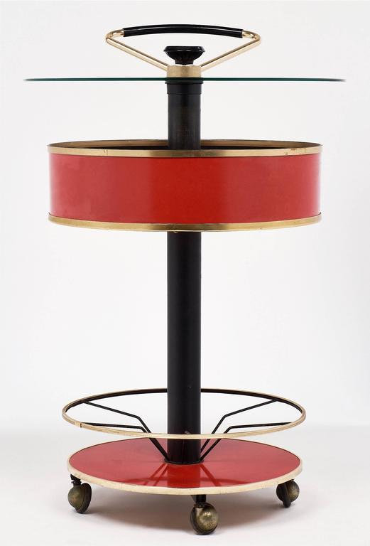 Modernist Italian Bar Cart 5