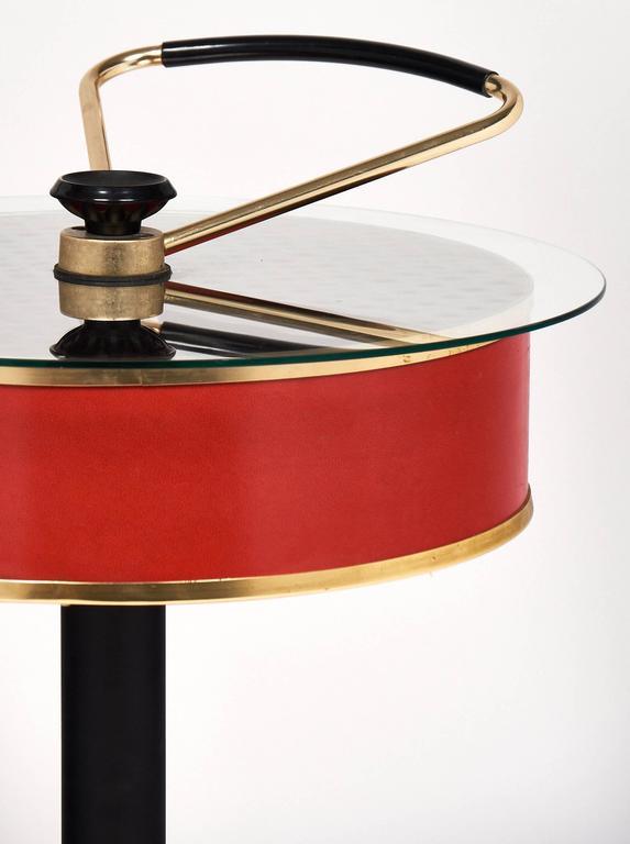Aluminum Modernist Italian Bar Cart For Sale