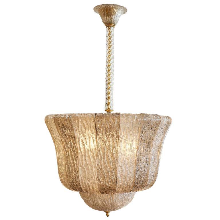 Barovier Murano Glass Bell Chandelier