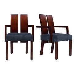 Vintage Hélène Clemmer Heidsieck Beech Wood Armchairs