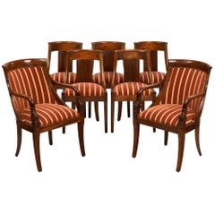French Antique Empire Style Chairs