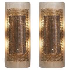 Layered Murano Smoked Glass Sconces