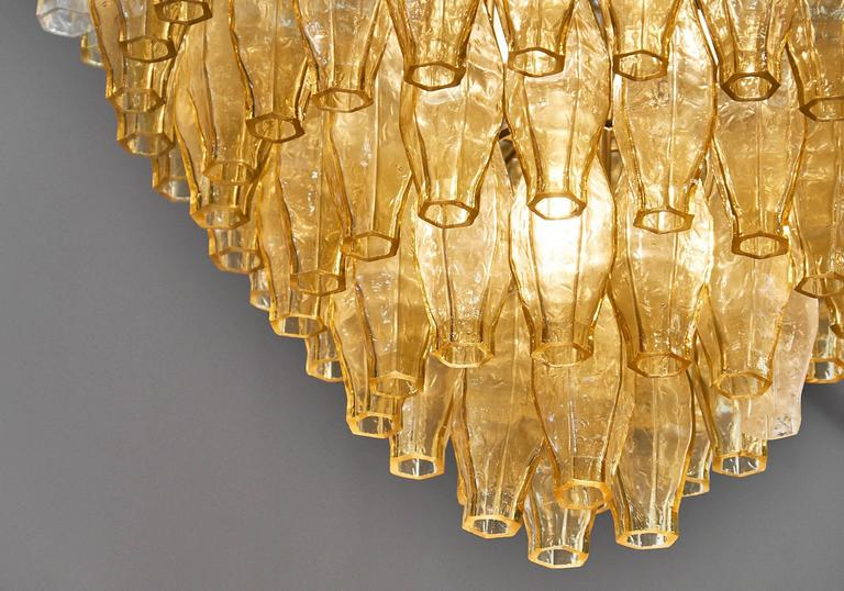 Murano Glass Vintage Chandelier in the Style of Venini For Sale 1