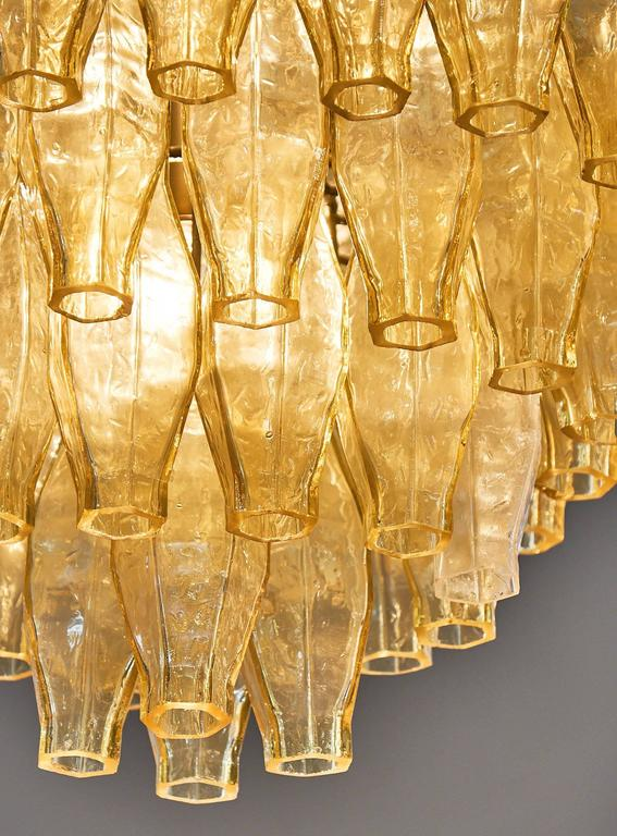Murano Glass Vintage Chandelier in the Style of Venini For Sale 2
