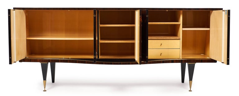 French Mid-Century Modern Vintage Macassar Buffet For Sale 2