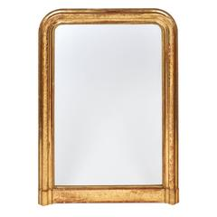 Louis Philippe French Antique Gold Leaf Mirror