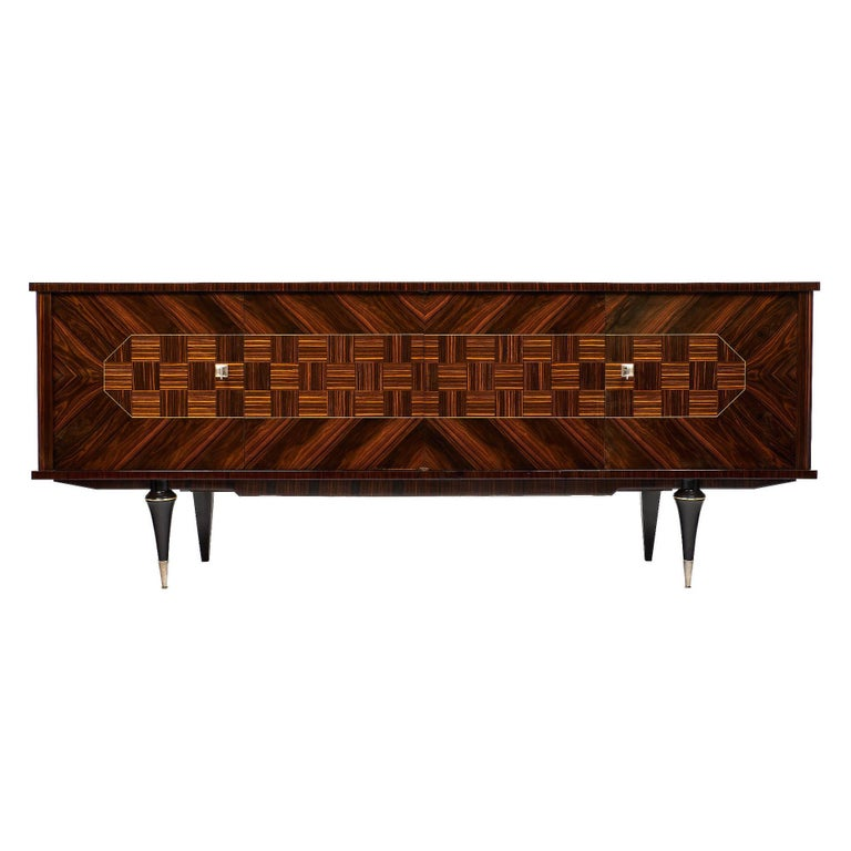French Macassar of Ebony Vintage Buffet
