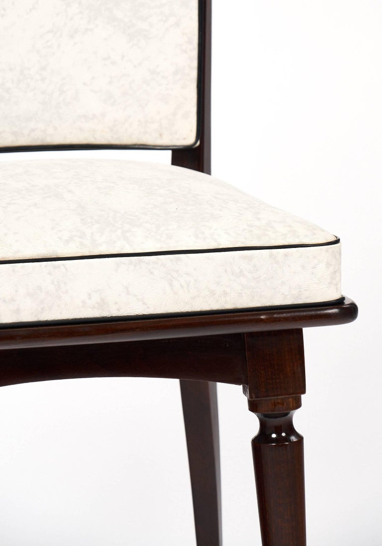Set of Mahogany French Vintage Dining Chairs For Sale 2