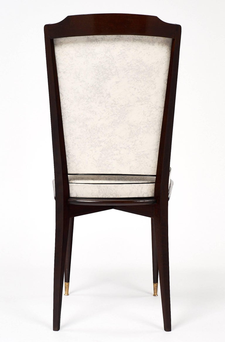 Set of Mahogany French Vintage Dining Chairs For Sale 4
