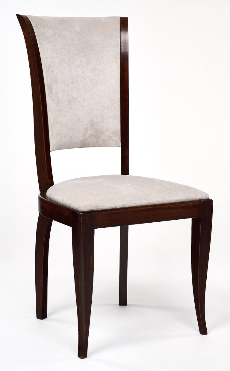 Set of Eight French Art Deco Velvet Dining Chairs For Sale  : 17C19ArtDecoDiningChairsbmaster from www.1stdibs.com size 768 x 1238 jpeg 78kB