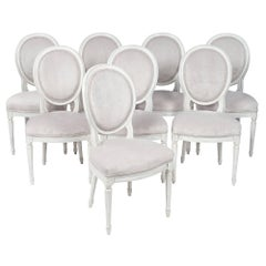 Louis XVI Style French Antique Medallion Back Chairs